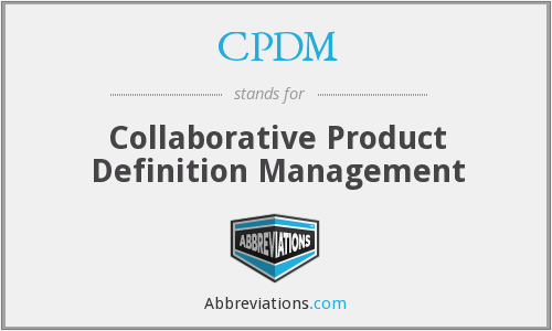 What does CPDM stand for?