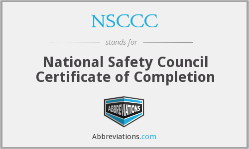 What does NSCCC stand for?