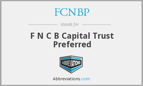 What does FCNBP stand for?