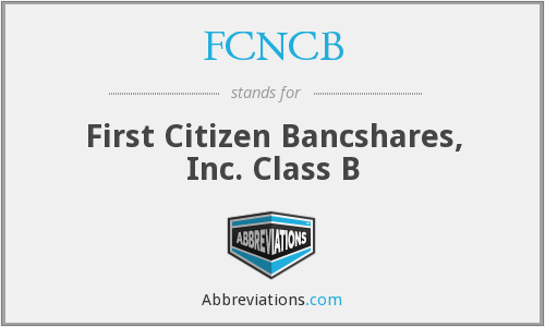What does FCNCB stand for?