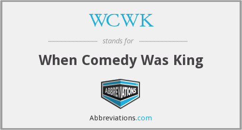 What does WCWK stand for?