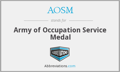 What does AOSM stand for?