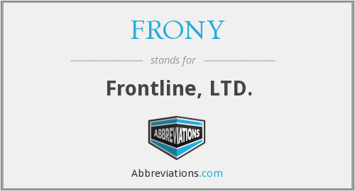 What does FRONY stand for?