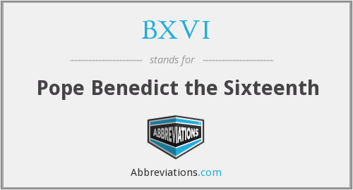 What does BXVI stand for?