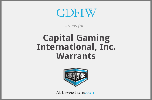 What does GDFIW stand for?