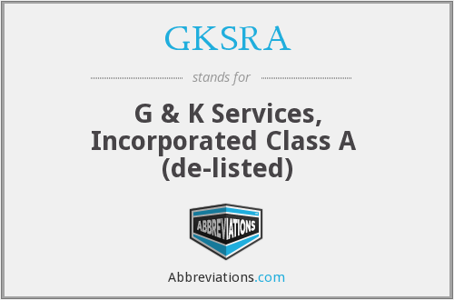 What does GKSRA stand for?
