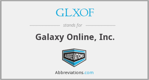 What does GLXOF stand for?