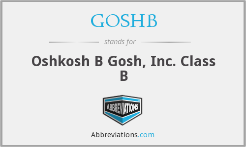 What does GOSHB stand for?