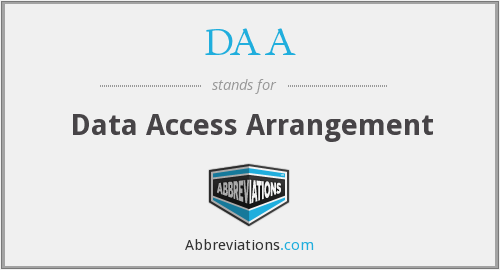 What does DAA stand for?