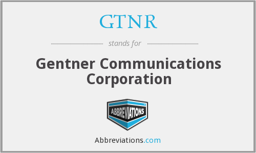 What does GTNR stand for?