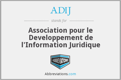 What does ADIJ stand for?