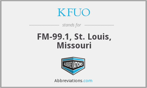What does KFUO stand for?