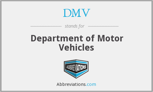 What does DMV stand for?