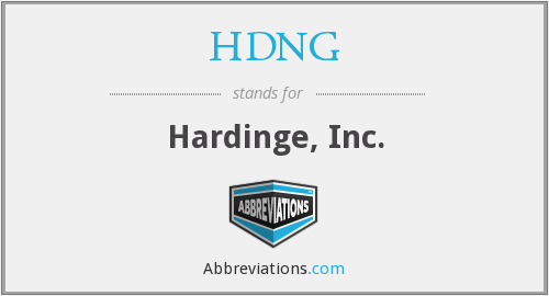 What does HDNG stand for?