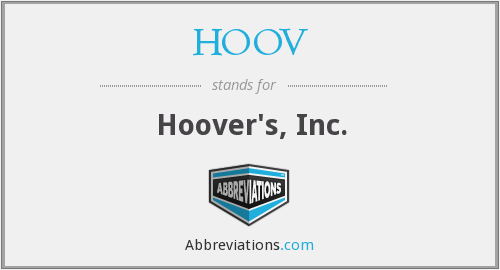 What does HOOV stand for?