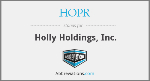What does HOPR stand for?