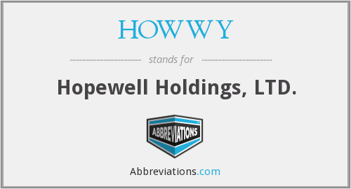 What does HOWWY stand for?