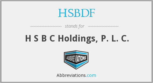 What does HSBDF stand for?