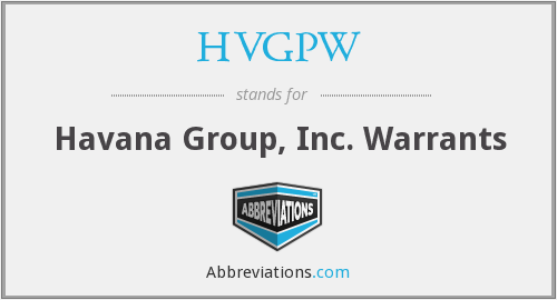 What does HVGPW stand for?