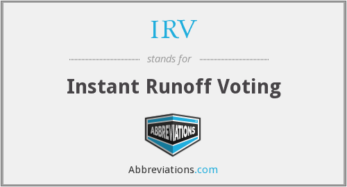 What does IRV stand for?