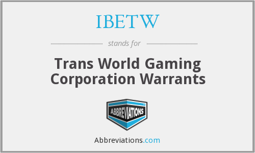 What does IBETW stand for?
