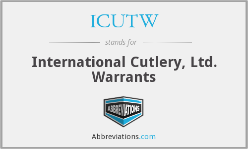 What does ICUTW stand for?