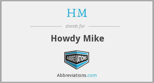 What does howdy-do stand for?