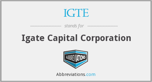 What does IGTE stand for?