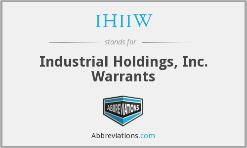 What does IHIIW stand for?