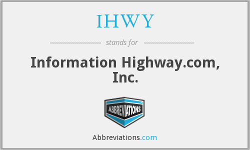 What does IHWY stand for?