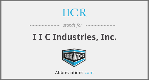 What does IICR stand for?