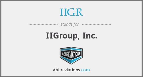 What does IIGR stand for?
