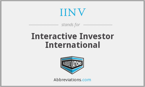 What does IINV stand for?
