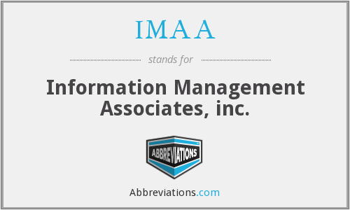 What does IMAA stand for?