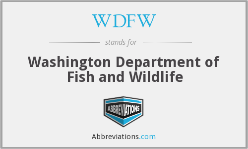 What does WDFW stand for?