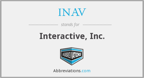 What does INAV stand for?