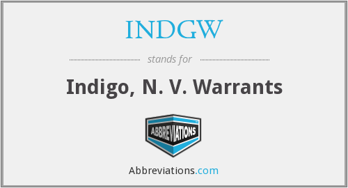 What does INDGW stand for?