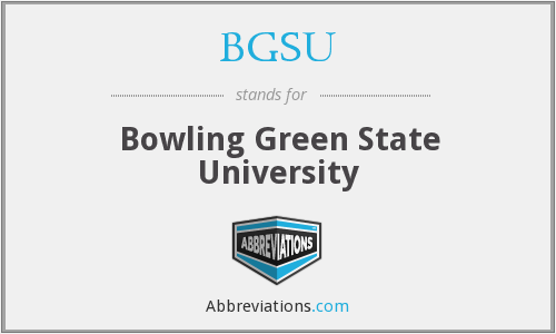 What does BGSU stand for?