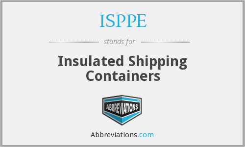 What does ISPPE stand for?