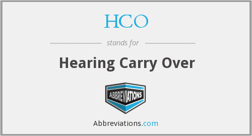 What does HCO stand for?