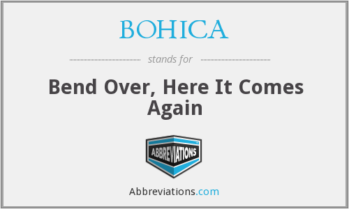 What does BOHICA stand for?