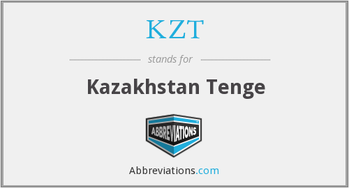 What does KZT stand for?