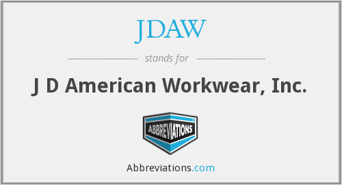 What does JDAW stand for?