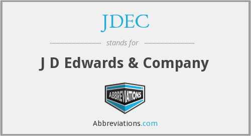 What does JDEC stand for?