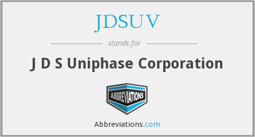 What does JDSUV stand for?