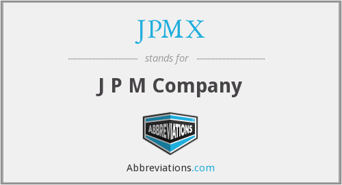 What does JPMX stand for?