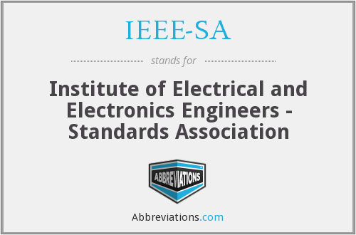 What does IEEE-SA stand for?