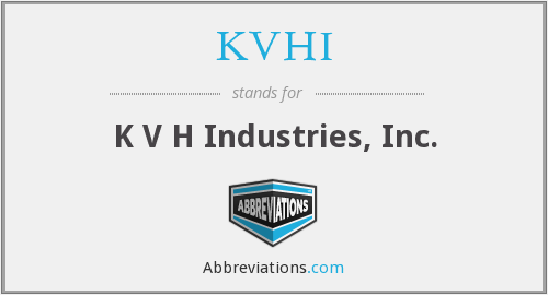 What does KVHI stand for?