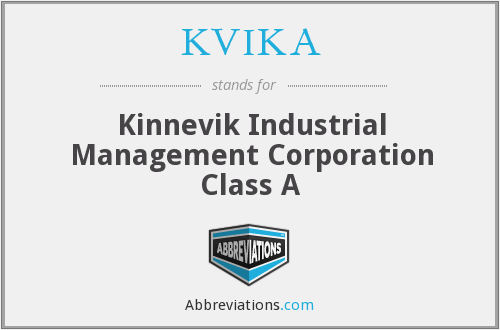 What does KVIKA stand for?