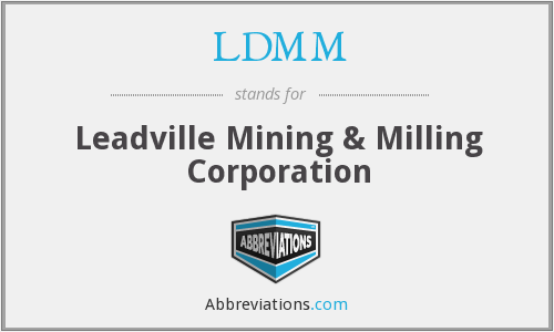 What does LDMM stand for?